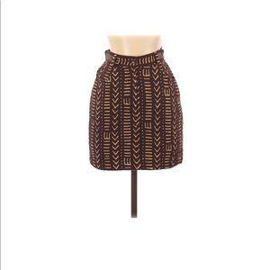 Kenzo wool mini skirt brown